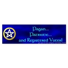 Pagan and Patriotic Bumper Bumper Sticker