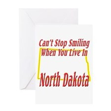 Can't Stop Smiling in ND Greeting Card