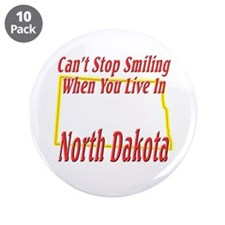 "Can't Stop Smiling in ND 3.5"" Button (10 pack)"