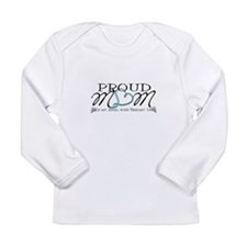 Proud T18 angel mom Long Sleeve Infant T-Shirt