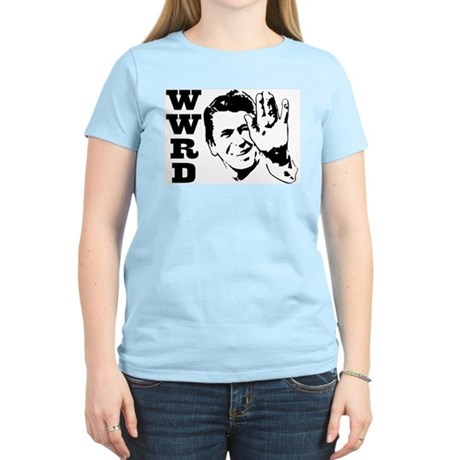 What Would Reagan Do Women's Pink T-Shirt
