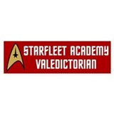 Starfleet Valedictorian (red) Bumper Sticker
