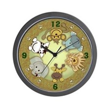 Jungle Animals Wall Clock
