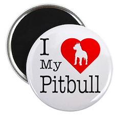 I Love My Pitbull Terrier Magnet