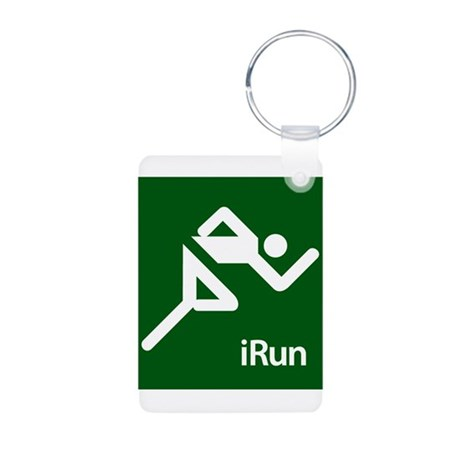iRun Aluminum Photo Keychain
