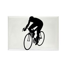 Cycling Silhouette Rectangle Magnet