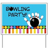 Bowling Party Yard Sign