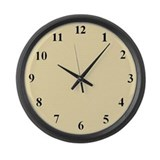 Beige Large Wall Clock