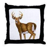 American White Tail Deer Buck Throw Pillow