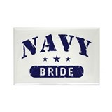 Navy Bride Rectangle Magnet