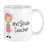Teacher Present 2nd Grade Small Mug