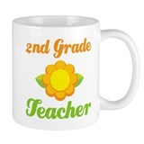 Cute Second Grade Teacher Small Mug