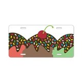 Ice Cream 1 Aluminum License Plate