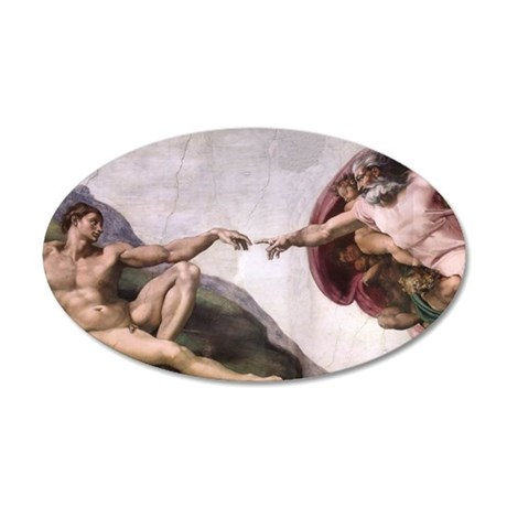 Creation of Adam 38.5 x 24.5 Oval Wall Peel