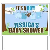 It's a Boy Clotheseline Baby Shower Sign Custom