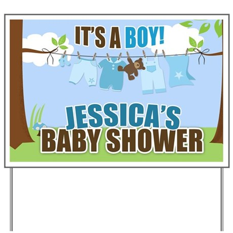 baby shower yard signs it 39 s a boy clotheseline baby shower sign