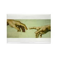 Creation of Adam (detail - Ha Rectangle Magnet (10