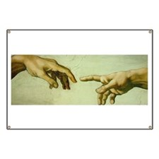 Creation of Adam (detail - Ha Banner