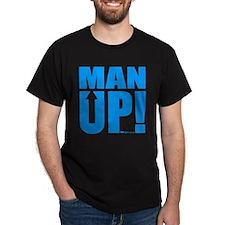 Man Up! Black T-Shirt