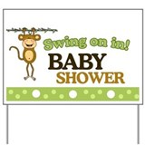 Swing on in Monkey Baby Shower Yard Sign