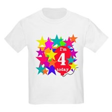 Lotsa Stars 4th Birthday Kids T-Shirt