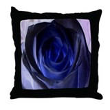 Blue Rose Throw Pillow