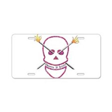 Born 2 knit Aluminum License Plate