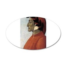 Portrait of Dante 22x14 Oval Wall Peel