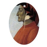 Portrait of Dante Ornament (Oval)