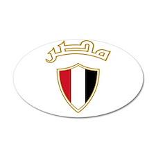 Egypt Crest 38.5 x 24.5 Oval Wall Peel