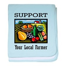 Support Your Local Farmer baby blanket