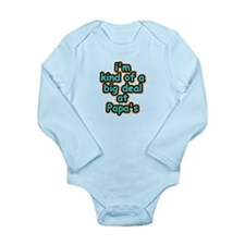 Big Deal At Papa's Long Sleeve Infant Bodysuit