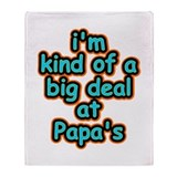 Big Deal At Papa's Throw Blanket