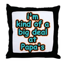 Big Deal At Papa's Throw Pillow