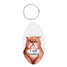 Cool Smiling cat art Keychains