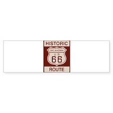 Oklahoma Route 66 Bumper Sticker