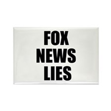 FOX News LIES Rectangle Magnet