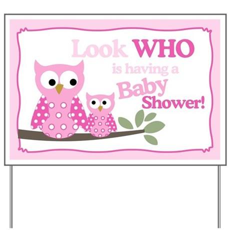 baby shower gifts baby shower yard signs look who 39 s having a ba
