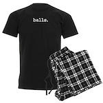 balls. Men's Dark Pajamas