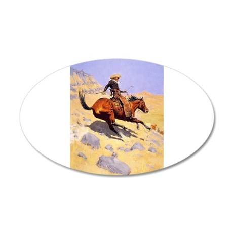 Cowboy 22x14 Oval Wall Peel