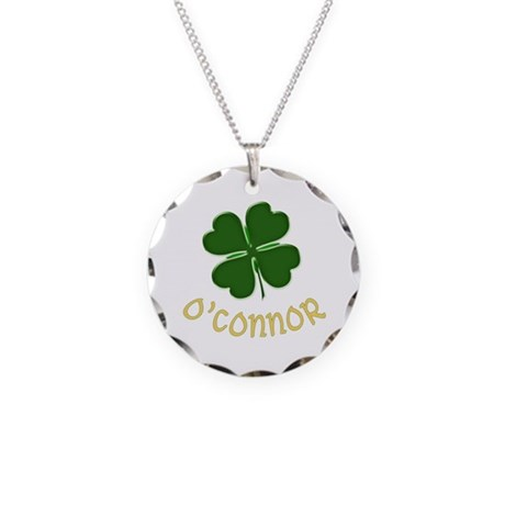 Irish O'Connor Necklace Circle Charm