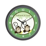 Silly Monkeys Wall Clock - Nathaniel & Lucas