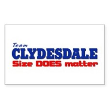 """Team Clydesdale"" Rectangle Decal"