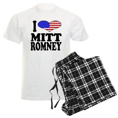 I Love Mitt Romney Men's Light Pajamas