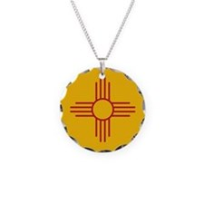 New Mexico State Flag Necklace
