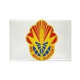 DUI - 100th Brigade - Support Bn Rectangle Magnet