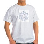 Ash grey T-shirt with Icosahedron