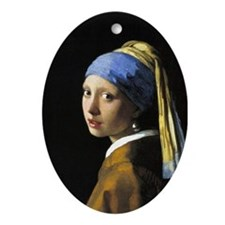 Girl with a Pearl Earring Ornament (Oval)