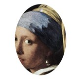 Girl with a Pearl Earring (de Ornament (Oval)