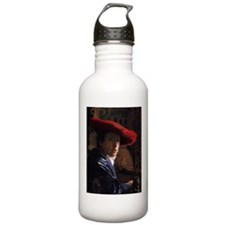 Girl With a Red Hat Sports Water Bottle